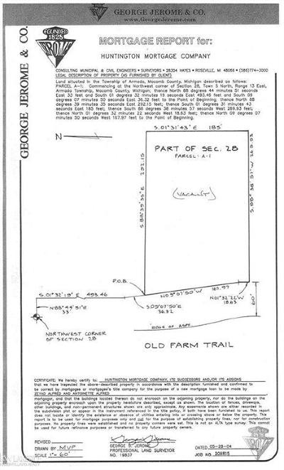 Armada Twp Residential Lots & Land For Sale: 72780 Old Farm Trail