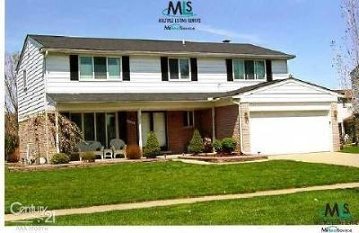 Sterling Heights MI Single Family Home For Sale: $284,900
