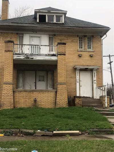 Detroit Single Family Home For Sale: Taylor #2