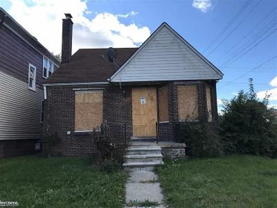 Detroit Single Family Home For Sale: 12373 Griggs