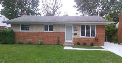 St Clair Shores, Roseville, Clinton Twp, Fraser Single Family Home For Sale: 31546 Northwood