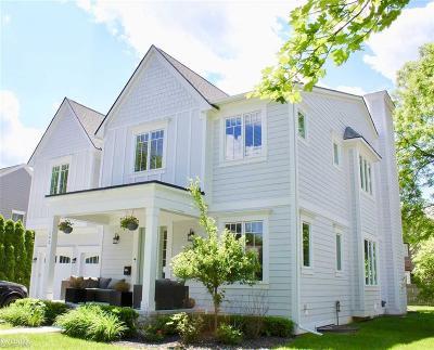 Birmingham MI Single Family Home For Sale: $1,500,000