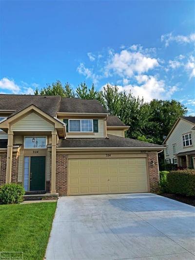 Auburn Hills Condo/Townhouse For Sale: 324 N Vista #unit 116
