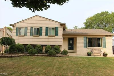 Sterling Heights Single Family Home For Sale: 43208 Hartwick