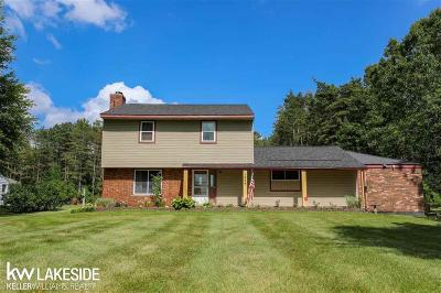 Oakland Twp Single Family Home For Sale: 1259 Harmon Rd