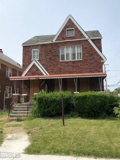 Detroit Single Family Home For Sale: 12797 Monica St