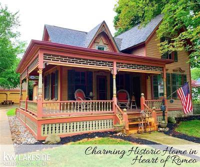 Romeo Vlg, Bruce Twp, Washington Twp Single Family Home For Sale: 139 Tillson St