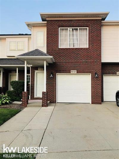 Sterling Heights Condo/Townhouse For Sale: 5847 Twin Oaks Dr