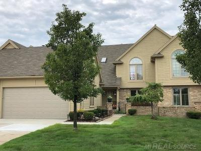 Macomb Twp Condo/Townhouse For Sale: 16889 Boulder Way