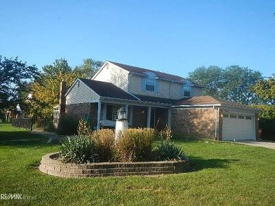 Macomb Twp Single Family Home For Sale: 18024 Riverhill
