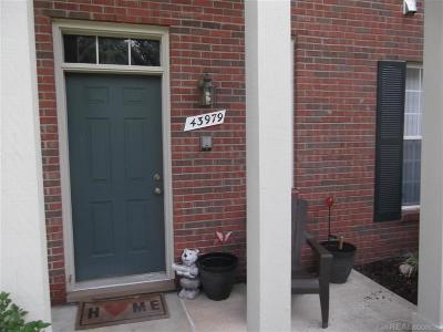 Sterling Heights Condo/Townhouse For Sale: 43979 Elm Dr