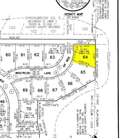 Dewitt Residential Lots & Land For Sale: 704 Windy Rush Lane