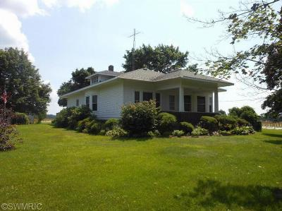 Berrien County, Cass County, Van Buren County Single Family Home For Sale: 7195 River Road
