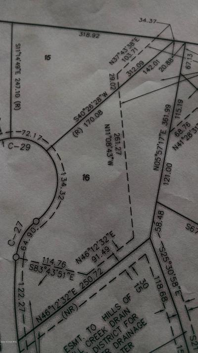 Big Rapids Residential Lots & Land For Sale: 16 Canyon Cove