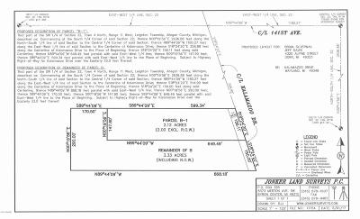 Wayland Residential Lots & Land For Sale: 4073 Kalamazoo Ave Remainder Of B Avenue SE