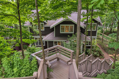 Saugatuck, Douglas Single Family Home For Sale: 156 Lakeshore Drive
