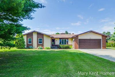 Comstock Park Single Family Home For Sale: 1485 10 Mile Road NE