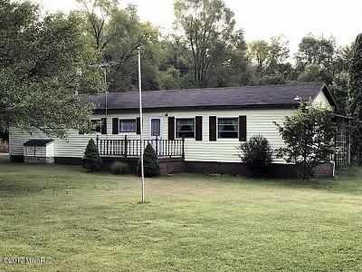 St. Joseph County Single Family Home For Sale: 9849 Barker Road