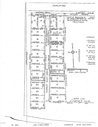 Oceana County Residential Lots & Land For Sale: 999 E Wilke Rd. And Forest Glen