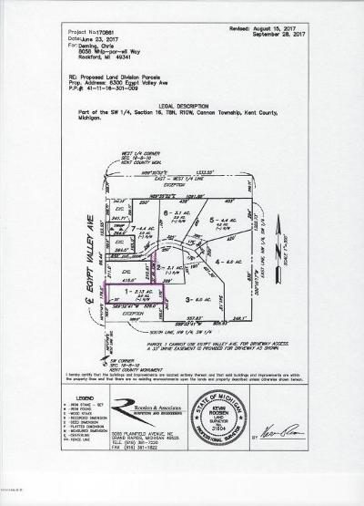 Rockford Residential Lots & Land For Sale: 6450 Bailey Mack Way, Lot #1