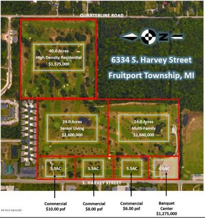 Muskegon County, Newaygo County, Oceana County, Ottawa County Residential Lots & Land For Sale: 6334-2 S Harvey Street