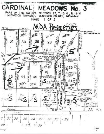 Muskegon Residential Lots & Land For Sale: 2578 Renae Drive
