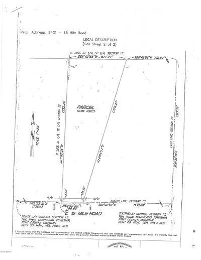 Rockford Residential Lots & Land For Sale: 9421 13 Mile Road NE