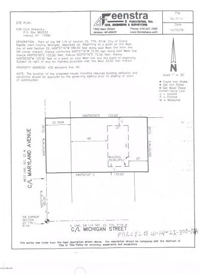 Grand Rapids Residential Lots & Land For Sale: 430 Maryland Avenue NE
