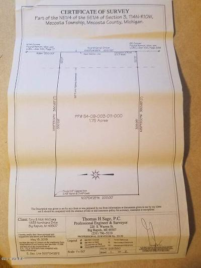 Mecosta County Residential Lots & Land For Sale: Northland Drive