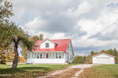 Benzie County, Charlevoix County, Clare County, Emmet County, Grand Traverse County, Kalkaska County, Lake County, Leelanau County, Manistee County, Mason County, Missaukee County, Osceola County, Roscommon County, Wexford County Single Family Home For Sale: 21228 6 Mile Rd,