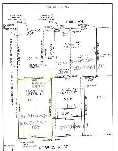 Grand Haven, Spring Lake, Ferrysburg Residential Lots & Land For Sale: 1201 Robbins Road