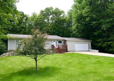 Benzie County, Charlevoix County, Clare County, Emmet County, Grand Traverse County, Kalkaska County, Lake County, Leelanau County, Manistee County, Mason County, Missaukee County, Osceola County, Roscommon County, Wexford County Single Family Home For Sale: 5301 W Riverside Lane
