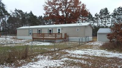 Hersey MI Single Family Home For Sale: $81,500