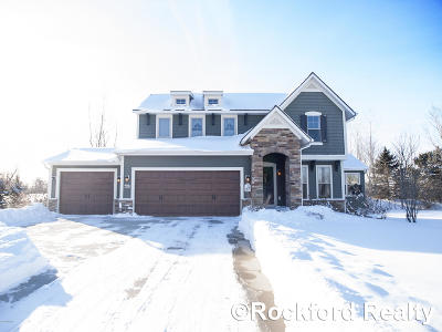 Rockford Single Family Home For Sale: 7235 Silver Meadows Drive NE
