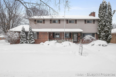 Grand Rapids Single Family Home For Sale: 37 Crestwood Drive NW