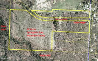 Benzie County, Charlevoix County, Clare County, Emmet County, Grand Traverse County, Kalkaska County, Lake County, Leelanau County, Manistee County, Mason County, Missaukee County, Osceola County, Roscommon County, Wexford County Residential Lots & Land For Sale: 15466 Big Four Road Road