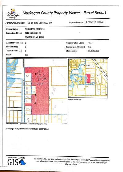Muskegon Residential Lots & Land For Sale: 7010 S Brooks Road