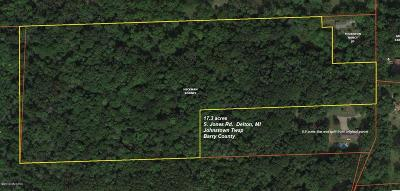 Barry County Residential Lots & Land For Sale: 12720 S Jones Road