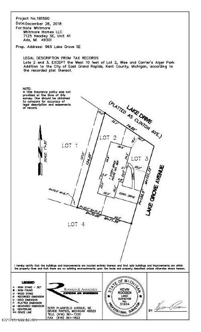 Grand Rapids Residential Lots & Land For Sale: 965 Lake Grove Avenue SE