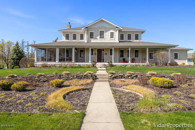 Clinton County, Gratiot County, Isabella County, Kent County, Mecosta County, Montcalm County, Muskegon County, Newaygo County, Oceana County, Ottawa County, Ionia County, Ingham County, Eaton County, Barry County, Allegan County Single Family Home For Sale: 7275 Beverly Drive