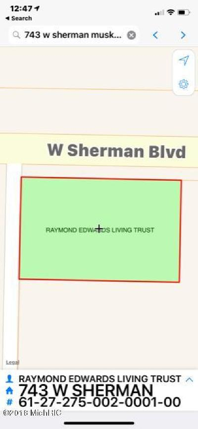 Muskegon County, Newaygo County, Oceana County, Ottawa County Residential Lots & Land For Sale: 743 W Sherman Boulevard