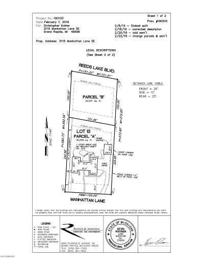 East Grand Rapids Residential Lots & Land For Sale: Par B Reeds Lake Boulevard SE
