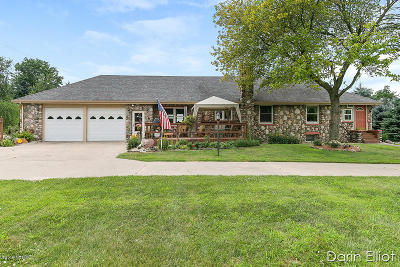 Clinton County, Gratiot County, Isabella County, Kent County, Mecosta County, Montcalm County, Muskegon County, Newaygo County, Oceana County, Ottawa County, Ionia County, Ingham County, Eaton County, Barry County, Allegan County Single Family Home For Sale: 1665 Belding Road