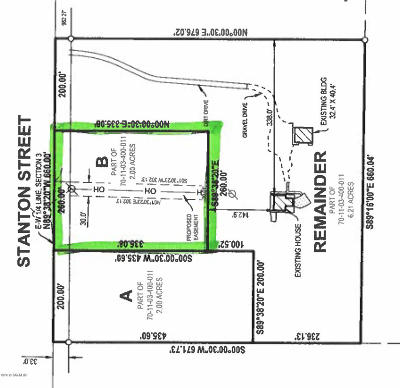 Holland, West Olive Residential Lots & Land For Sale: Stanton Street #B