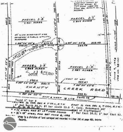 Antrim County Residential Lots & Land For Sale: Lot 1-B, C, D Shanty Creek Road