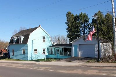 Michigamme Single Family Home For Sale: 152 E Main St #Lat 46.5