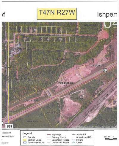 Ishpeming Residential Lots & Land For Sale: Us41 #East Par
