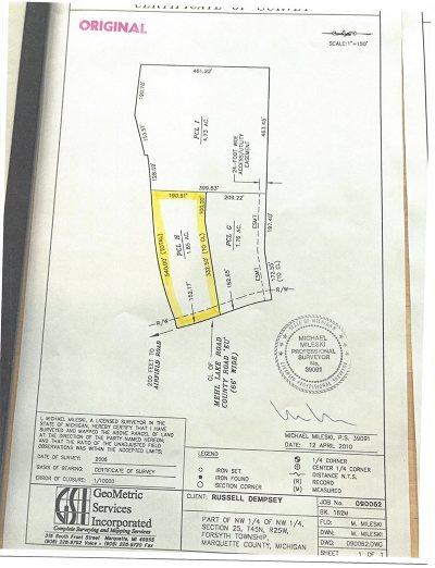 Gwinn Residential Lots & Land For Sale: Mehl Lake #Parcel H