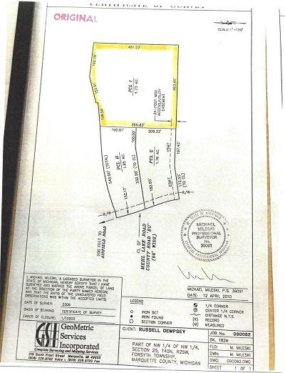 Gwinn Residential Lots & Land For Sale: Mehl Lake #Parcel I