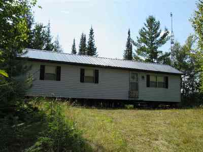 Michigamme Single Family Home For Sale: 24500 Ruth Lake (43.91 Acres) Rd